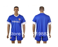 hot 13/14 Athletic Bilbao away blue soccer jersey +shorts kits best quality football jerseys Embroidery logo free ship