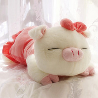 Free shipping + pig plush toy Large pig pillow puppet pillow girlfriend gift, chritmas gift