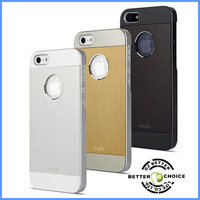 Hot sale Elegant Ultra Thin Aluminum and Polycarbonate 2 in 1 Brush Hard Case Cover for iphone 5, Free Shipping