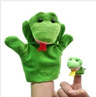 Chinese Zodiac Snake 10pcs/lot Baby Plush Toy,Story Talking Props,Stuffed Dolls( Set of Hand Puppets+Finger Puppets Animals)