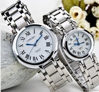 Watch male women's ultra-thin lovers table a pair of table watch mechanical quartz watch waterproof led