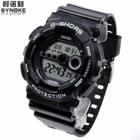 Fashion student table watch running hiking waterproof multifunctional sports table led luminous electronic watch