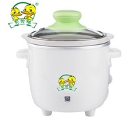 Free shipping Duck bb cooker baby electric porridge pot baby rice cooker ceramic electric cooker sy-a12a