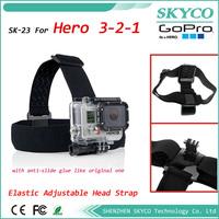 GOPRO Elastic Adjustable Head Strap Mount Belt for Outdoor Camera For GoPro HD Hero, Hero2, Hero3, Anti-Skid, Free Shipping