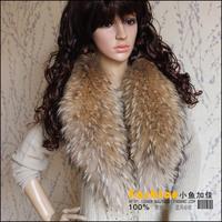 Cheap 2013 Winter 100% real raccoon fur collar scarf high quality 100cm length