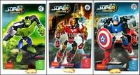 no retail package Decool Super Hero Factory combination The Hulk Captain America Iron man robot building block sets kids toy