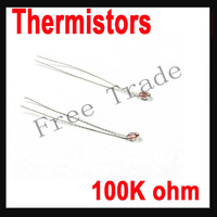 10Pcs/lot  100K ohm NTC 3950 Thermistors for 3D Printer Reprap Mend Free Shipping