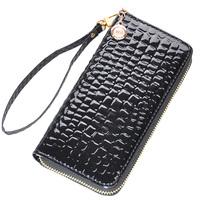 Wallets Japanned leather women's long design wallet wallet women's clutch women's handbag zipper bag