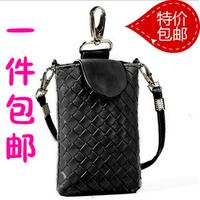 Wallets Halter-neck mobile phone bag cell phone pocket woven women's handbag cross-body bag 9.9 coin purse small bag clutch