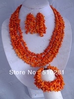 New design # 009 fashion coral jewelry set necklace bracelet and earring set