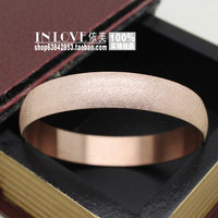 Fashion scrub beads brief circle bracelet titanium 18k rose gold quality hand ring female gift
