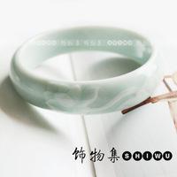 Ceramic jewelry blue and white porcelain bracelet handmade bracelet