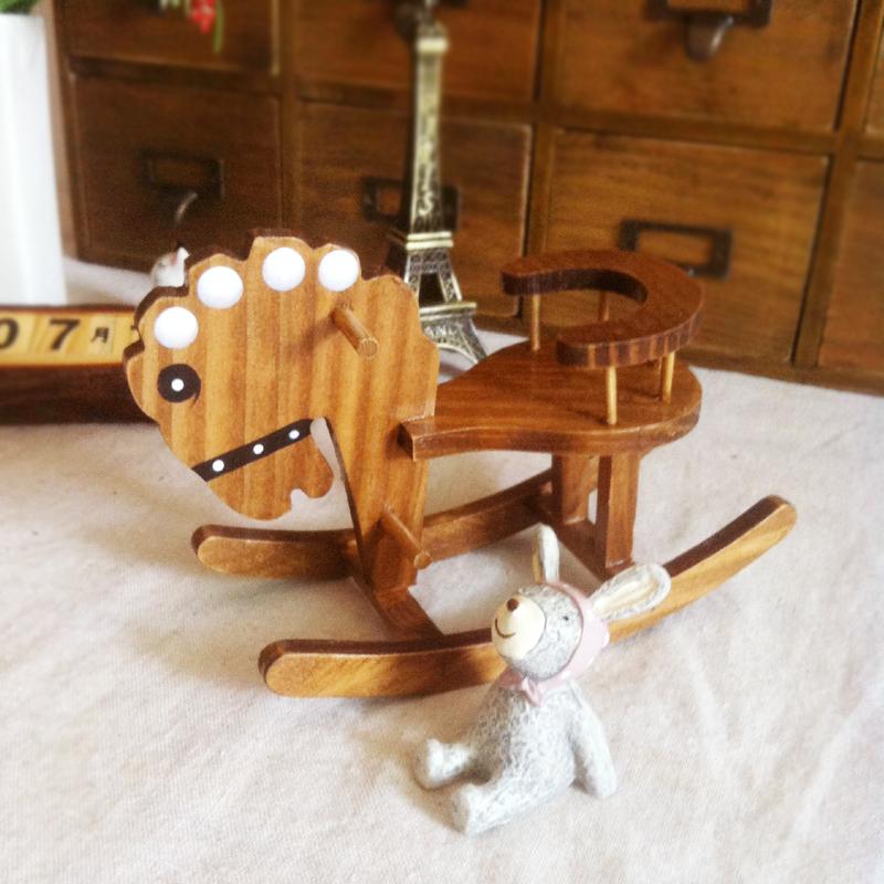 Zakka birthday gift nostalgic vintage handmade wool rocking horse crafts decoration(China (Mainland))