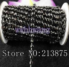 popular black rhinestone chain