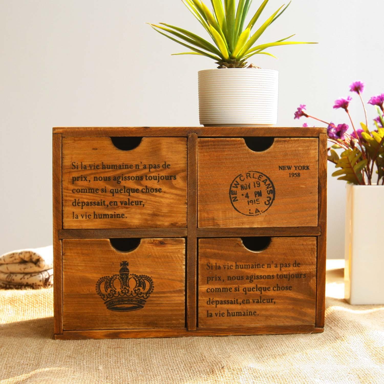 Zakka vintage drawer storage box jewelry box storage box storage cabinet storage cabinet(China (Mainland))