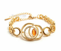 New Arrival 2013 Bracelets & Bangles for Women,18K Gold Filled CrystalCharms Bracelet,Loops Fashion Jewelry Wholesale