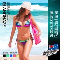 bikini swimwear Set Sexy for women Islandhaze belt pad bikini women's small steel push up bikini