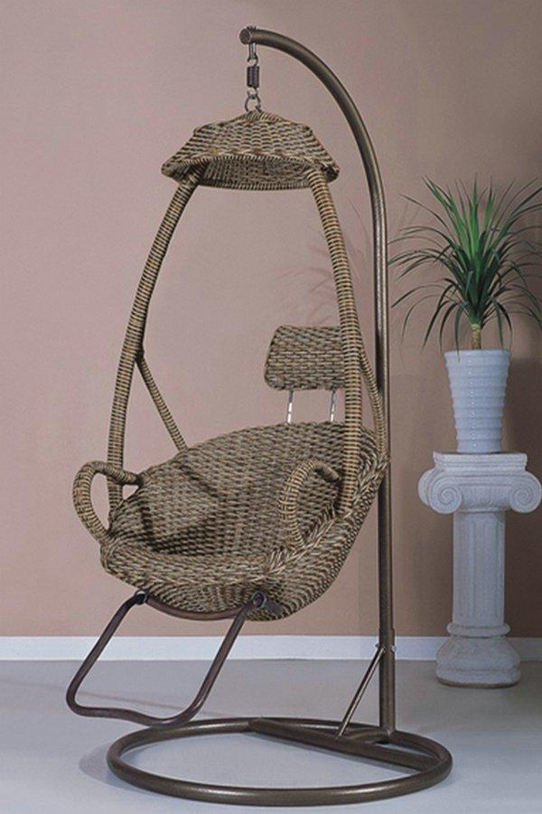 Rattan furniture outdoor swing rattan hanging basket