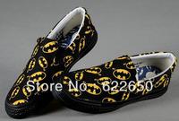 Women's Batman Printed Rubber Sneakers Casual Canvas Shoes Fashion Low Top Sneaker Drop shipping