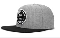 New Arrival Brixton Snapback Caps Grey with black brim most popular mens snapbacks Hats wholesale & dropshipping & Free shipping