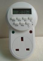 UK Plug Digital Programable Timer Switch 24h 7 Days Children Protector Timer 250V 50HZ 13A