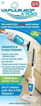 Free Shipping 4set/lot new 7 in 1 steam mop  As seen on tv  ,steam cleaner mop Vapour Mop
