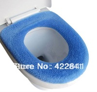 2014  2pcs/lot High Quality Toilet Seats Warm Soft Thickening Flocking Seat Cover Cushion Cleaning Set C001