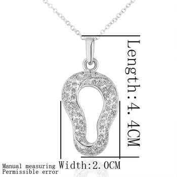 Free shipping 18K GP gold plated jewelry necklace fine fashion rhinestone crystal nickel free pendant necklace SMTPN176