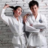Taekwondo 100% cotton polyester cotton myfi full embroidery karate uniform dobok kickboxing  uniforms itf wtf kwon  training