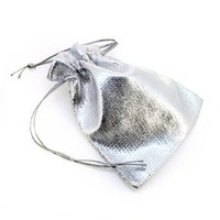 Free shipping, 7x9cm silver small jewelry gift bag packaging bags.