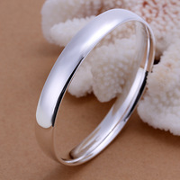 2013 Free Shipping Hot Fashion 925 silver Bracelet Smooth oval bangle LKNSPCB169