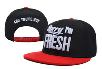 Sorry Im Fresh and you're not Snapback caps fashion baseball adjustable hats top quality mix order accept black red