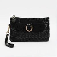 2013 New WEIDI POLO bag Fashion Snake skin Genuine cow Leather Women's Purse/Clutch Evening handbag  cosmetic bag Free shipping