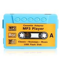 LY4# Mini MP3 Player TF USB Flash Disk Cassette Speaker Blue R1BO