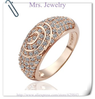 18K Rings - MJR069 ,QA Pass Top quality 18K White Gold Rings for women ,Australia crystal Fashion jewellery Free shipping