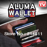 Bling Recommed Free Shipping Aluma Wallet For Business ID Credit Card+Indestructible +Aluminium+Waterproof+Men+Women