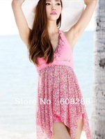 Free Shipping  Ms. Siamese skirt swimsuit hot spring big yards