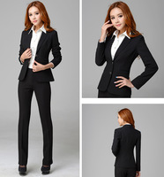 New Style Women Business Suits Formal Office Suits Work Uniform Coat+Pants Top  Quality Free Shipping in Stock