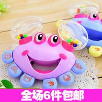 Newborn infant rattles, 6713 crab handbell baby toy