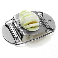 Stainless Egg Slicer Pro Kitchen Cutter Kitchen Utensil Gift  5pcs/lot free shipping