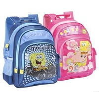 Free Shipping sponge bob backpack girl school bag for boys kids children's backpacks spongebob cartoon school bag