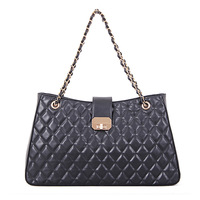 Free Shipping Getwo 2013 women's handbag fashion plaid fashion chain bag lock women's handbag portable one shoulder big bags