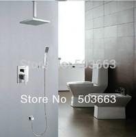 "Chrome 8"" Entire Shower Set Mixer Valve Diverter Shower Head Rainfall 4 Bathroom S-545"