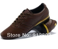 BRAND Popular Men's GENUINE LEATHER Casual Skateboarding Sport Men Running Sneakers Brouce Shoes