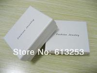 Custom Made Universal Type White Jewelry Box. Fashion Jewel Case. Wholesale Gift Box. Print Own Logo. Min.Order 500pcs ID: SFJB.