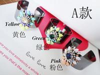 2013 Hot New Fashion Shourouk Sparkling Multi Color Resin Stone Cuff Bangle Vintagle Bracelet Jewelry For Women Free Shippin