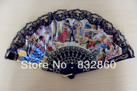 Free shipping 70pcs/lot assorted colors plastic  fan  as gift  and souvenior