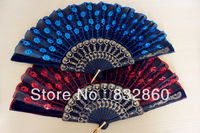 80pcs/lot assorted colors plastic  fan of free  shipping  for  wedding  parties