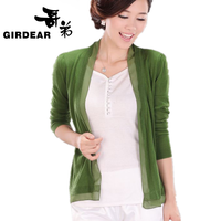 2013 autumn female knitted air conditioning shirt thin cardigan cape sun protection clothing outerwear