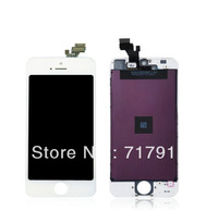 100% Original White LCD Display with Touch Screen Glass Digitizer Assembly Replacement for iPhone 5 Free Shipping